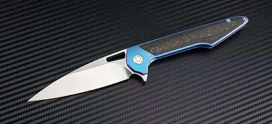 Artisan Cutlery Archaeo ATZ-1821G M390 Blau